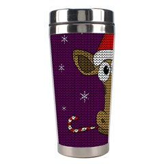 Christmas Giraffe  Stainless Steel Travel Tumblers by Valentinaart