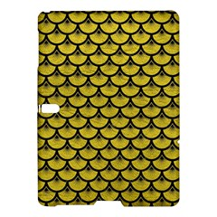 Scales3 Black Marble & Yellow Leather Samsung Galaxy Tab S (10 5 ) Hardshell Case  by trendistuff