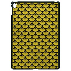 Scales3 Black Marble & Yellow Leather Apple Ipad Pro 9 7   Black Seamless Case by trendistuff