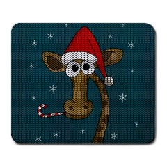 Christmas Giraffe  Large Mousepads by Valentinaart