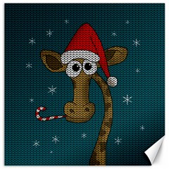 Christmas Giraffe  Canvas 20  X 20   by Valentinaart