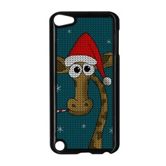 Christmas Giraffe  Apple Ipod Touch 5 Case (black) by Valentinaart