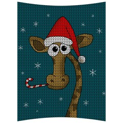 Christmas Giraffe  Back Support Cushion by Valentinaart