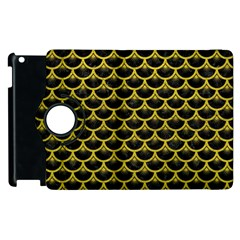 Scales3 Black Marble & Yellow Leather (r) Apple Ipad 3/4 Flip 360 Case by trendistuff