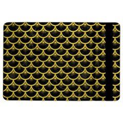 Scales3 Black Marble & Yellow Leather (r) Ipad Air 2 Flip by trendistuff