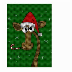 Christmas Giraffe  Large Garden Flag (two Sides)