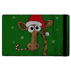 Christmas Giraffe  Apple Ipad 3/4 Flip Case by Valentinaart