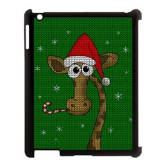 Christmas Giraffe  Apple Ipad 3/4 Case (black) by Valentinaart