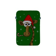 Christmas Giraffe  Apple Ipad Mini Protective Soft Cases by Valentinaart