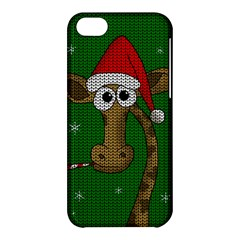 Christmas Giraffe  Apple Iphone 5c Hardshell Case by Valentinaart