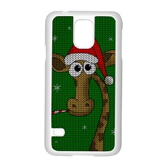 Christmas Giraffe  Samsung Galaxy S5 Case (white) by Valentinaart