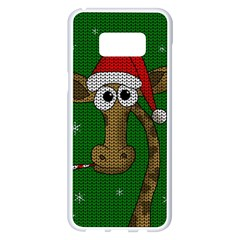 Christmas Giraffe  Samsung Galaxy S8 Plus White Seamless Case