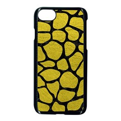 Skin1 Black Marble & Yellow Leather (r) Apple Iphone 8 Seamless Case (black) by trendistuff