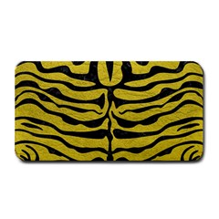 Skin2 Black Marble & Yellow Leather Medium Bar Mats