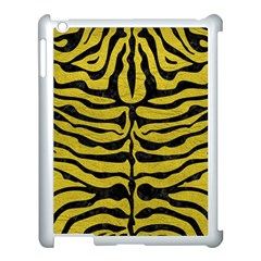 Skin2 Black Marble & Yellow Leather Apple Ipad 3/4 Case (white) by trendistuff