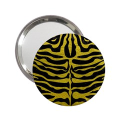 Skin2 Black Marble & Yellow Leather (r) 2 25  Handbag Mirrors by trendistuff