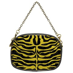 Skin2 Black Marble & Yellow Leather (r) Chain Purses (two Sides)