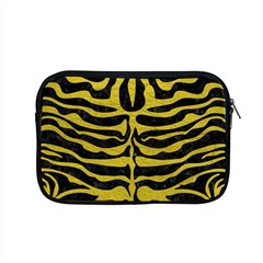 Skin2 Black Marble & Yellow Leather (r) Apple Macbook Pro 15  Zipper Case