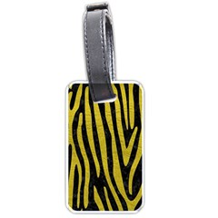 Skin4 Black Marble & Yellow Leather Luggage Tags (one Side)  by trendistuff