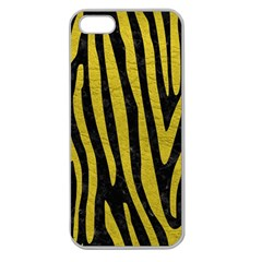 Skin4 Black Marble & Yellow Leather Apple Seamless Iphone 5 Case (clear) by trendistuff