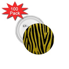 Skin4 Black Marble & Yellow Leather (r) 1 75  Buttons (100 Pack)  by trendistuff