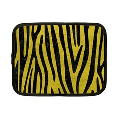 Skin4 Black Marble & Yellow Leather (r) Netbook Case (small)  by trendistuff