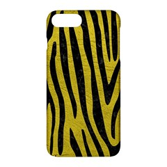 Skin4 Black Marble & Yellow Leather (r) Apple Iphone 7 Plus Hardshell Case