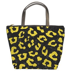 Skin5 Black Marble & Yellow Leather Bucket Bags