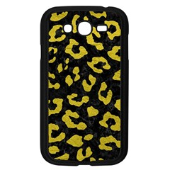 Skin5 Black Marble & Yellow Leather Samsung Galaxy Grand Duos I9082 Case (black) by trendistuff