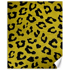 Skin5 Black Marble & Yellow Leather (r) Canvas 16  X 20   by trendistuff