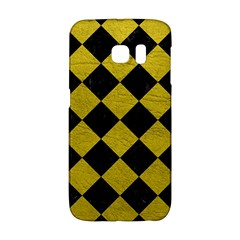 Square2 Black Marble & Yellow Leather Galaxy S6 Edge by trendistuff