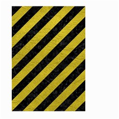 Stripes3 Black Marble & Yellow Leather (r) Large Garden Flag (two Sides)