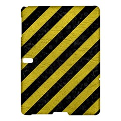 Stripes3 Black Marble & Yellow Leather (r) Samsung Galaxy Tab S (10 5 ) Hardshell Case  by trendistuff