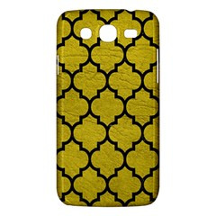 Tile1 Black Marble & Yellow Leather Samsung Galaxy Mega 5 8 I9152 Hardshell Case  by trendistuff