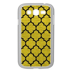 Tile1 Black Marble & Yellow Leather Samsung Galaxy Grand Duos I9082 Case (white) by trendistuff
