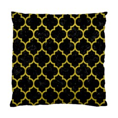 Tile1 Black Marble & Yellow Leather (r) Standard Cushion Case (one Side) by trendistuff