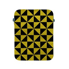 Triangle1 Black Marble & Yellow Leather Apple Ipad 2/3/4 Protective Soft Cases by trendistuff