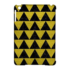 Triangle2 Black Marble & Yellow Leather Apple Ipad Mini Hardshell Case (compatible With Smart Cover) by trendistuff