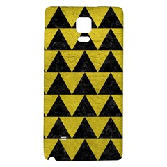 Triangle2 Black Marble & Yellow Leather Galaxy Note 4 Back Case by trendistuff