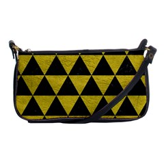 Triangle3 Black Marble & Yellow Leather Shoulder Clutch Bags by trendistuff