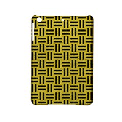 Woven1 Black Marble & Yellow Leather Ipad Mini 2 Hardshell Cases by trendistuff