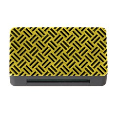 Woven2 Black Marble & Yellow Leather Memory Card Reader With Cf by trendistuff