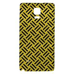 Woven2 Black Marble & Yellow Leather Galaxy Note 4 Back Case by trendistuff