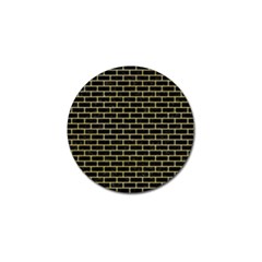 Brick1 Black Marble & Yellow Watercolor (r) Golf Ball Marker (4 Pack) by trendistuff