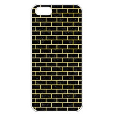 Brick1 Black Marble & Yellow Watercolor (r) Apple Iphone 5 Seamless Case (white) by trendistuff