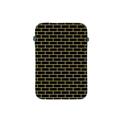Brick1 Black Marble & Yellow Watercolor (r) Apple Ipad Mini Protective Soft Cases by trendistuff