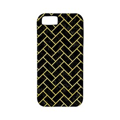 Brick2 Black Marble & Yellow Watercolor (r) Apple Iphone 5 Classic Hardshell Case (pc+silicone) by trendistuff