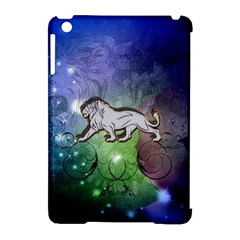 Wonderful Lion Silhouette On Dark Colorful Background Apple Ipad Mini Hardshell Case (compatible With Smart Cover) by FantasyWorld7