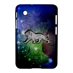 Wonderful Lion Silhouette On Dark Colorful Background Samsung Galaxy Tab 2 (7 ) P3100 Hardshell Case  by FantasyWorld7