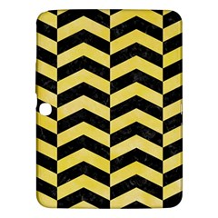 Chevron2 Black Marble & Yellow Watercolor Samsung Galaxy Tab 3 (10 1 ) P5200 Hardshell Case  by trendistuff